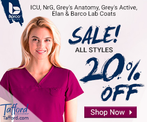 20% Off ALL Barco Scrubs @ Tafford
