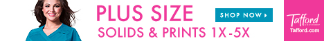 Great Selection of Plus Size Scrubs @Tafford