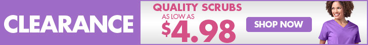 clearance scrubs for $4.98