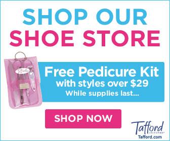 Free Manicure Kit w/ Nursing Shoes over $29.99