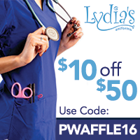 Save $10 on your $50 offer with Code PWAFFLE16