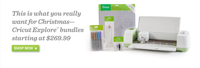 All Cricut Explore Bundles on.