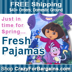 Shop Kids' Spring PJs at CrazyForBargains.com and get free shipping over $40!