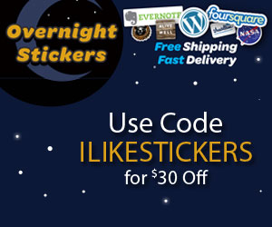 Use Code ILIKESTICKERS For $30 Off