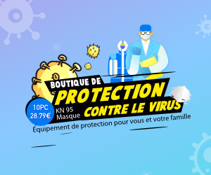 Find effective protections against the virus at the best price. 50pcs masks from 31 €. (1) Time: 13th Mar. 2020 - 28th Mar. 2020 (2) Available Market: France