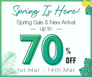 Save up to 70% on Spring Sale and New Collections