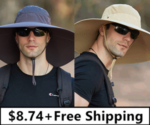 Super Wide Brim Sun Hat-UPF50+ Waterproof Bucket Hat Sunscreen Sun Hat ONLY $8.74+Free Shipping, Any 3Pcs Get Extra 15% Off!