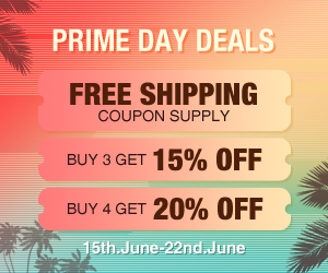 Free Shipping coupon supply, Buy 3 get 15% Off / Buy 4 get 20% Off
