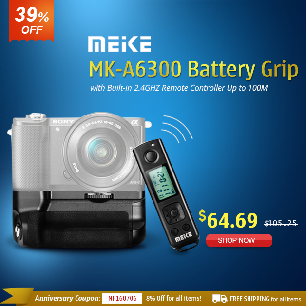 Meike MK-A6300 Battery Grip Stats from $64.69 by Free Shipping.