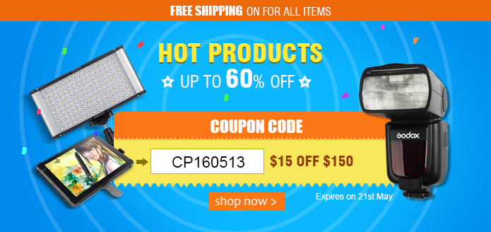 Hot Products Up To 60% OFF+ Coupon(CP160513:$15 OFF $150)