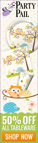 Happi Tree owl baby shower supplies & decorations.