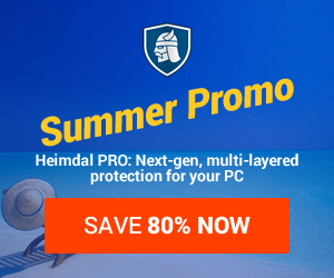 Keep Ransomware Out with Heimdal PRO - get 20% OFF!