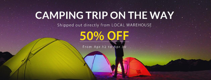 More that 50% Off for Camping Tent