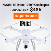 GearBest Hot Sale: Save $103 for XIAOMI Mi Drone 1080P WIFI FPV Quadcopter (Ends: 12/31/2016)