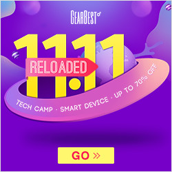 Enjoy up to 70% off for 11.11 reloaded special sale @GearBest now! Grab the smart device in the lowest price.