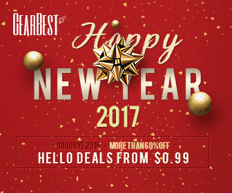 Grab Deals from $0.99 and More than 60% OFF @GearBest! Starts on Dec. 26th.
