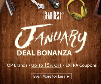 Grab up to 15% off coupon for top brands cellphones and tablets @GearBest. Valid: 1/1/2017- 1/9/2017