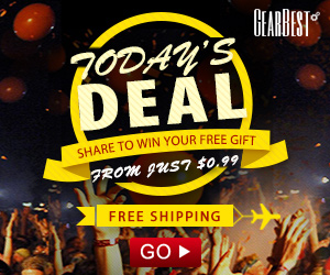 GearBest Monthly Deal Promotion: From Just $0.99 and Get Free Gifts