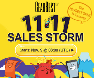 Gearbest Double 11 Sales Sorm: Win XiaoMi Mi5 For Free