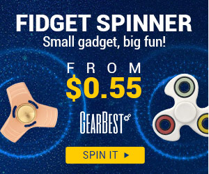 Grab the 17% OFF coupon @GearBest! Hot Ideal for adults or children. Ergonomic curved shaped design for hand comfort and long term usages. Simply flick and spin for hours with one or two hands. (Ends: 6/10/2017).