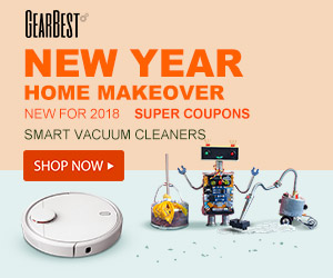 Grab hot home appliance deals @GearBest now! You can get the xiaomi robot vacuum cleanser and dibea at low price!