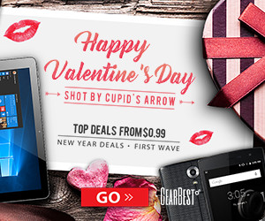 Happy Valentine's Day Win the Free Gift and Top Deals from $0.99 -@GearBest.com! Ends: 2/20/2017