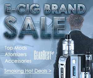 Grab coupons for Top Mods, Atomizers &Accessories @GearBest top e-cigs.