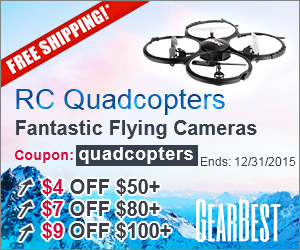 RC Quadcopters: Free Shipping and $4 off $50+, $7 off $80+, $9 off $100+, $14 off $150+ with Coupon