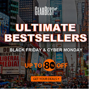 Enjoy Up to 80% OFF for Cyber Monday Ultimate Bestsellers and electronic flash sales @GearBest! Promotion ends: 12/4/2016.