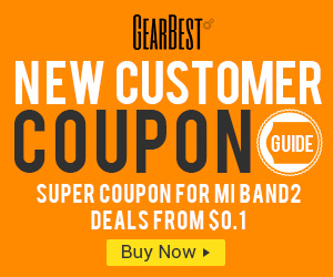 GearBest Coupon Section for New Customers: Stars from $0.01! Grab super coupon for Xiaomi Mi Band 2@GearBest.