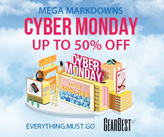 GearBest Cyber Monday 2017, active from 11/27-12/4