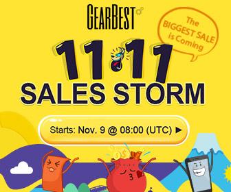 Gearbest Double 11 Sales Sorm: Win XiaoMi Mi5 For Free