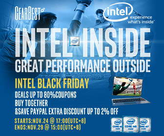 Enjoy up to 80% off for Black Friday Intel inside tablets @GearBest, and use PayPal to get up to 2% extra discount! Buy together and save more! Ends: 11/29/2016