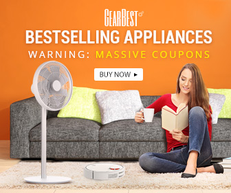 Get Massive Coupon and deals for Best Selling                   Appliance Promotion@GearBest!