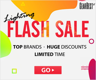 GearBest Lighting Flash Sale-Grab Hot Product of XiaoMi, Vernee, Anet, ILIFE, Teclast! All the hot sale products will at a competitive price during May 10 @ 07:00 UTC – May 15 @ 07:00 UTC. We will hold this event regularly.