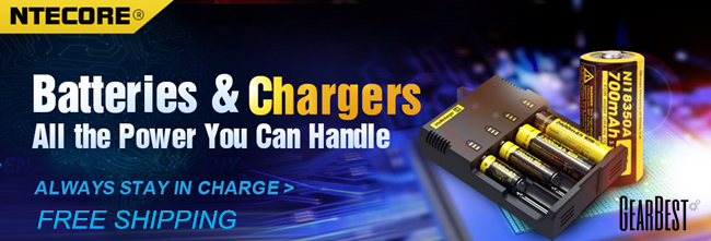 UP to 65% OFF + Free Shipping: Nitecore Batteries and Chargers Special