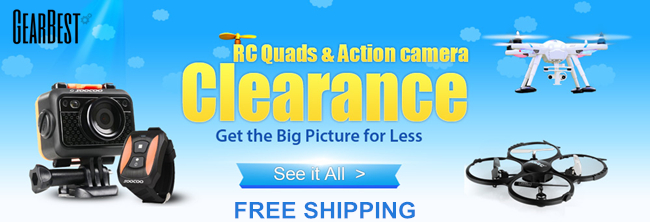Free Shipping + UP to 65% OFF: RC Quadcopters and Action Cameras Clearance