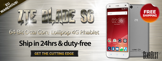 EU Stock: Free Shipping for ZTE Blade S6 Android Phablet