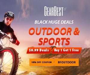 Enjoy gearbest Black Friday Outdoors and Sport Flash Sale