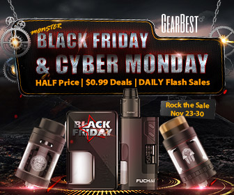 Half Price for E-cigs @GearBest Black Friday & Cyber Monday
