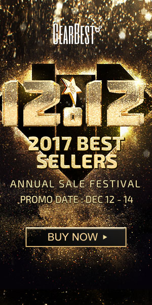 Enjoy GearBest 12.12 Best seller Annual Festival from Dec.12 to Dec.14! Get the best price for xiaomi phones, hot tablest, and other electronics @GearBest now!
