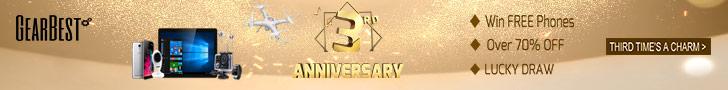 GearBest 3rd Anniversary(3.9-3.18)