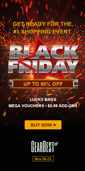 GearBest Preheat Black Friday from Nov.20-23