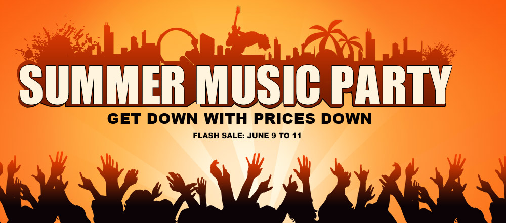 Up to 72% OFF:Falsh Deals for Summer Music Party 2015