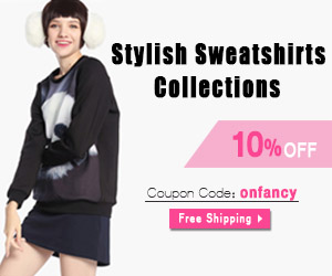 10% OFF, Stylish Sweatshirts Collections, Coupon Code: onfancy , Free Shipping