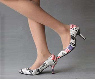 Fashion American Flag Pattern Pointed Toe Shoes, $60.99+Free Shipping