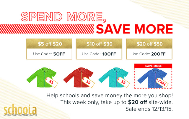 Schoola.com  Offer is valid only November 27th-30th.