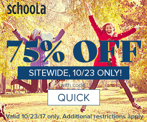 Schoola 75% Off Promo Code = $100 worth of Clothing for $25 Shipped (Today ONLY)!