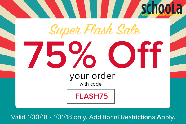 78f8b5e0ff9 Schoola Flash Sale ~ Take 75% Off Your Order