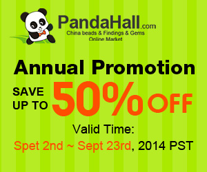 Up to 50% off on over 180,000 items, ends on Sept. 23rd, 2014 @PandaHall